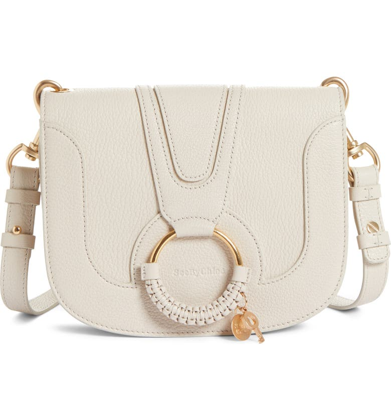 SEE BY CHLOÉ Hana Small Leather Crossbody Bag, Main, color, CEMENT BEIGE
