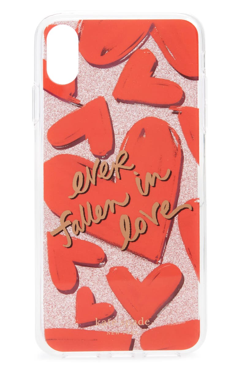 KATE SPADE NEW YORK ever fallen in love iPhone X/Xs/Xs Max case, Main, color, MULTI