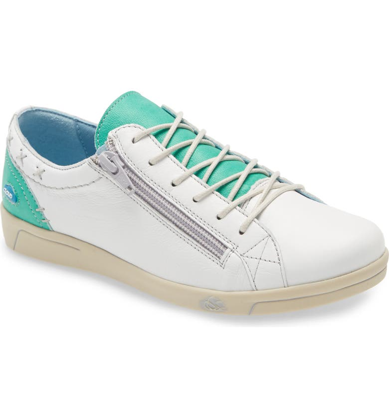 CLOUD Aika Sneaker, Main, color, GREEN/ WHITE LEATHER