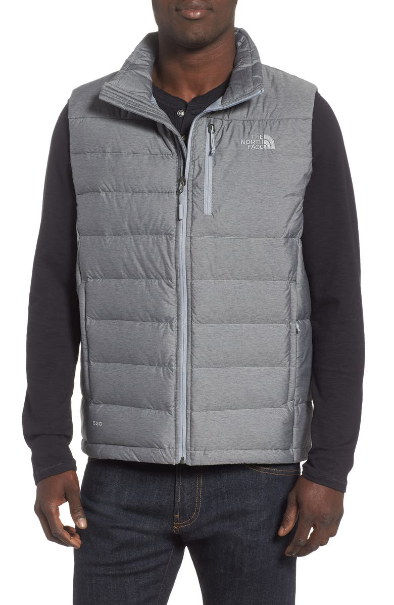 THE NORTH FACE 'Aconcagua' Goose Down Vest, Main, color, MEDIUM GREY HEATHER