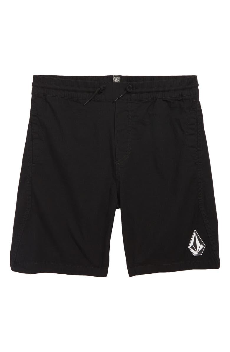 VOLCOM Deadly Stones Shorts, Main, color, BLACK