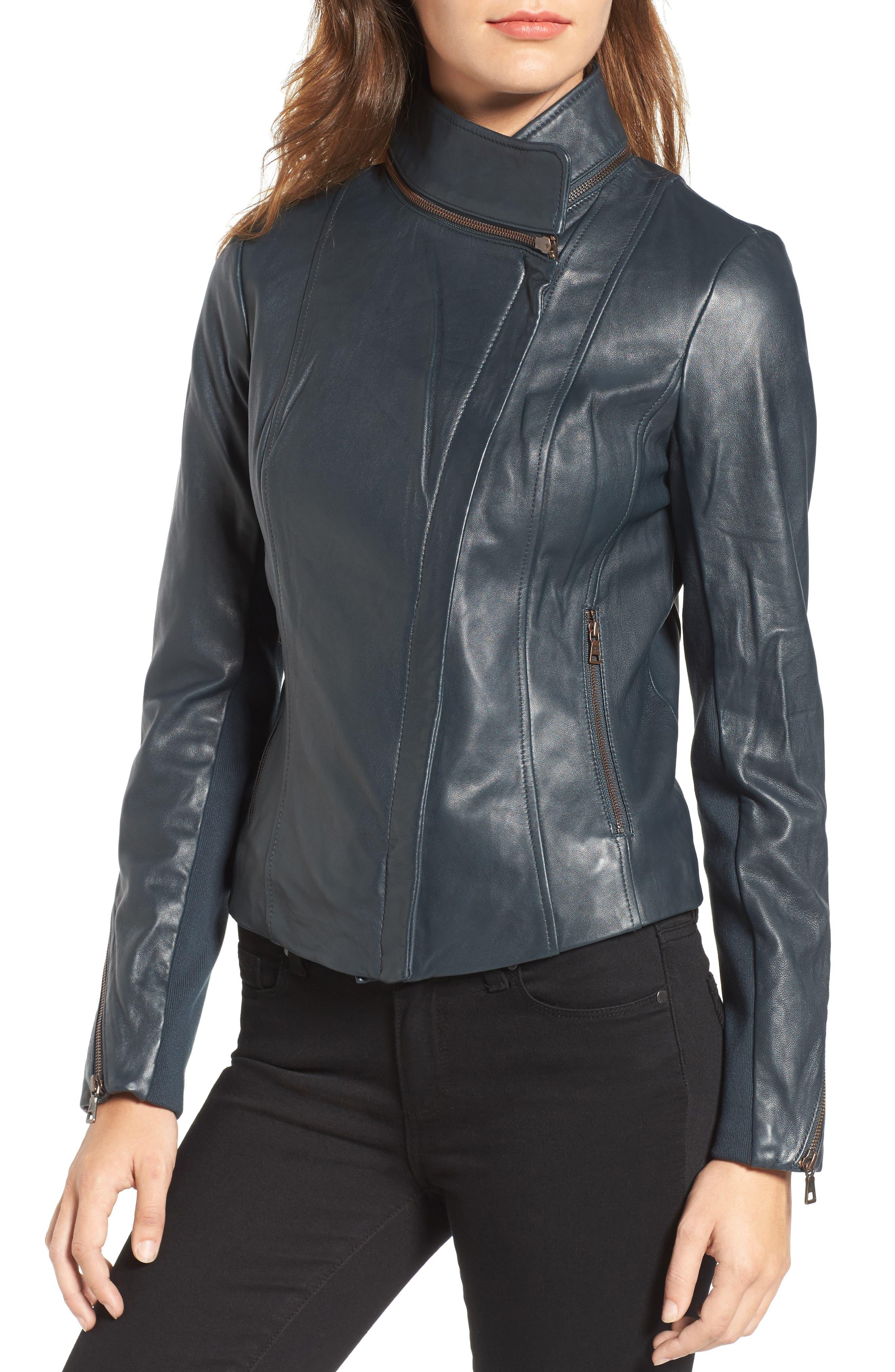 ,                             Zip Detail Moto Jacket,                             Alternate thumbnail 7, color,                             431