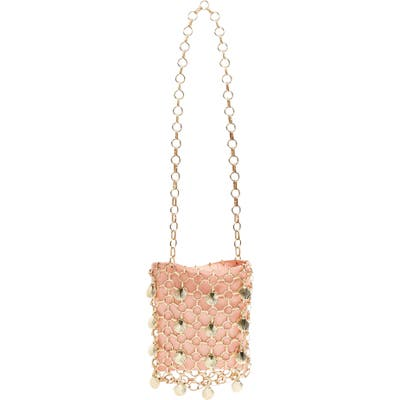 Topshop Shell Cage Mini Bag - Pink