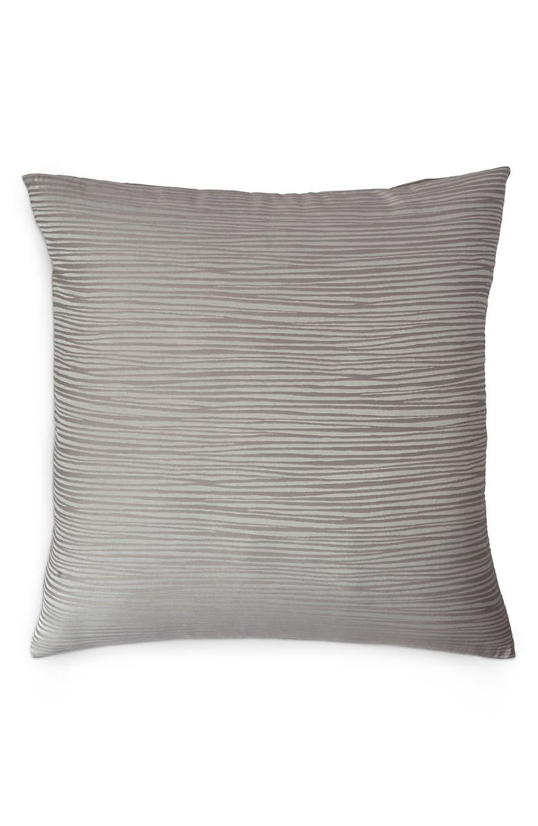 DONNA KARAN NEW YORK Donna Karan Collection 'Reflection' Euro Sham, Main, color, SILVER