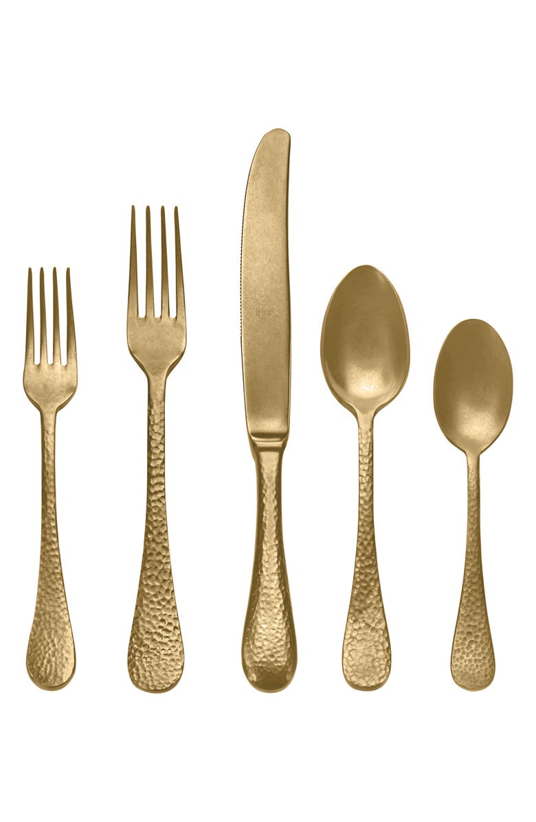 MEPRA Epoque Distressed Gold 5-Piece Place Setting, Main, color, 710