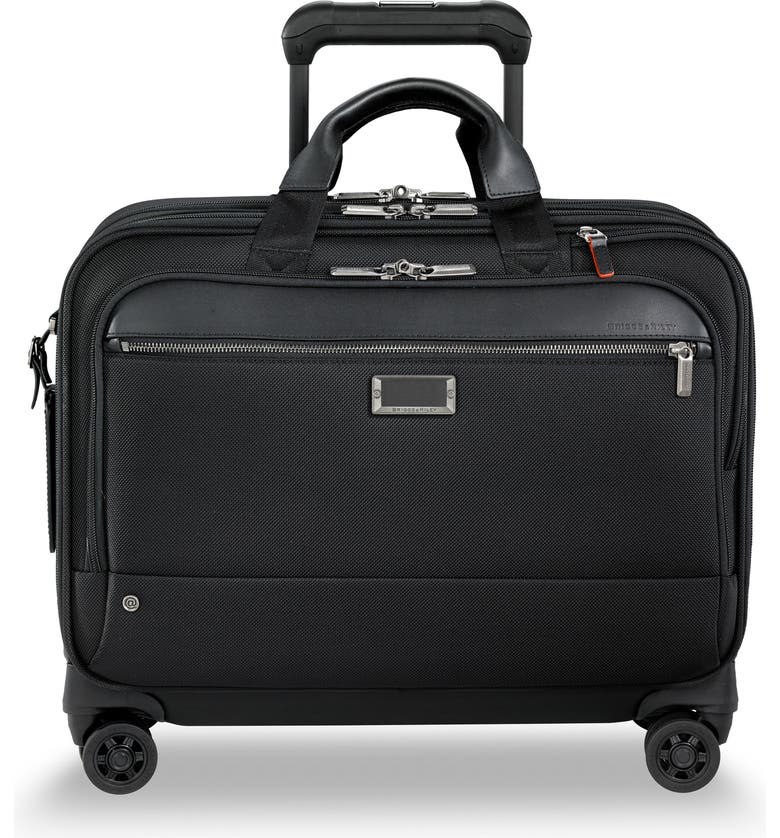 BRIGGS & RILEY @work 17-Inch Large Expandable Spinner Briefcase, Main, color, BLACK