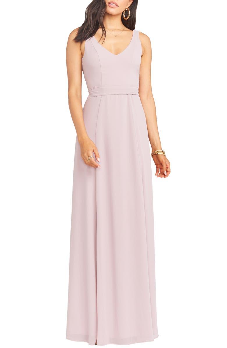 SHOW ME YOUR MUMU Jen Chiffon A-Line Gown, Main, color, 250