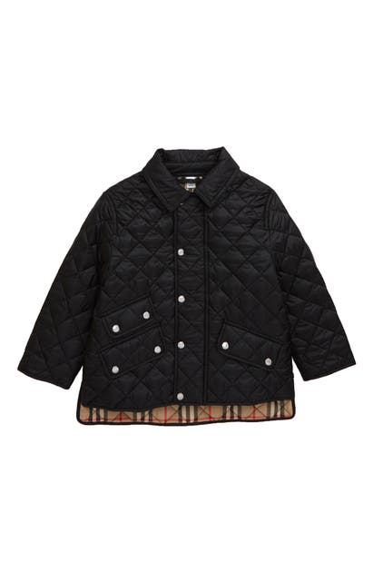 Burberry Unisex Brennan Diamond Quilted Jacket - Little Kid, Big Kid In Black