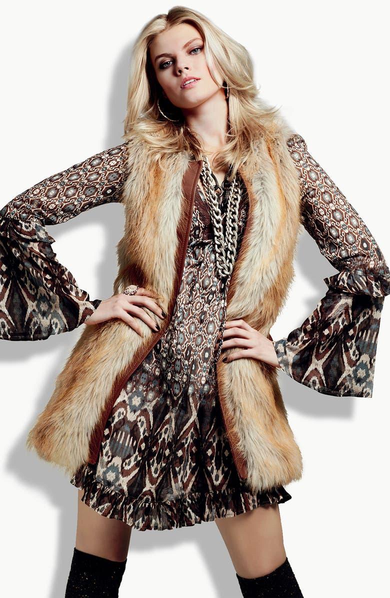 SANCTUARY 'Rockin' Natalie' Faux Fur Vest, Main, color, 200
