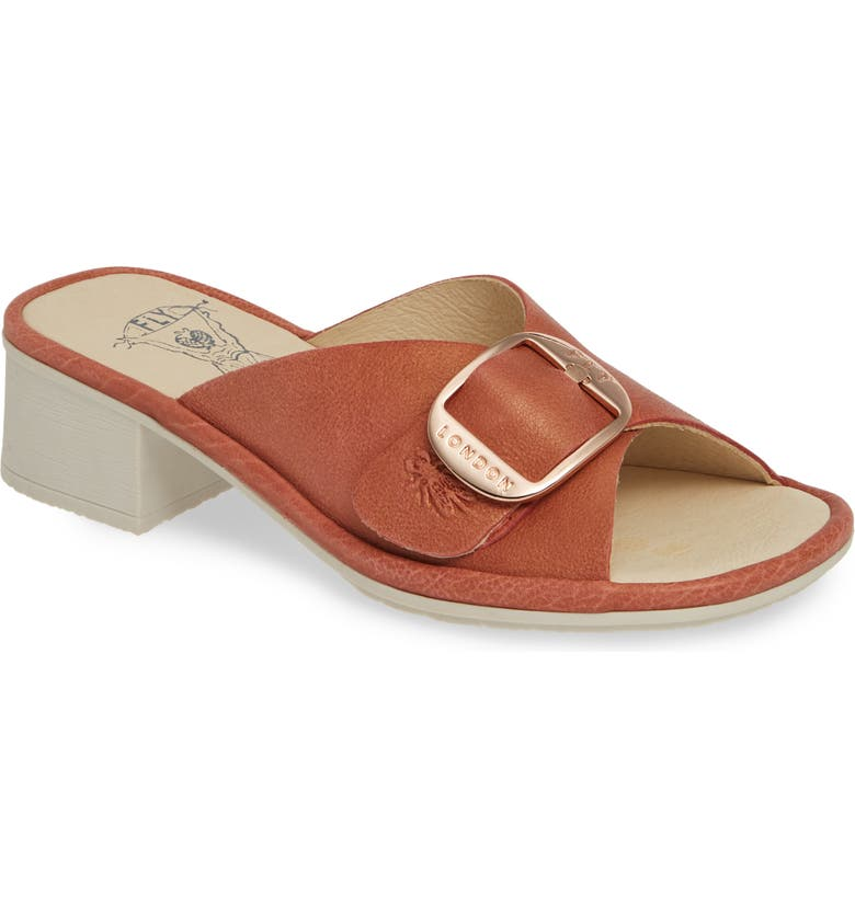 FLY LONDON Elax Slide Sandal, Main, color, RASPBERRY JANEDA LEATHER