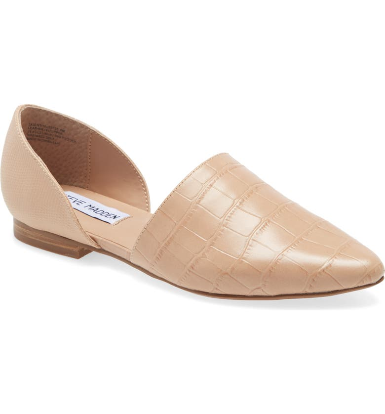 STEVE MADDEN Talent d'Orsay Flat, Main, color, TAUPE CROC