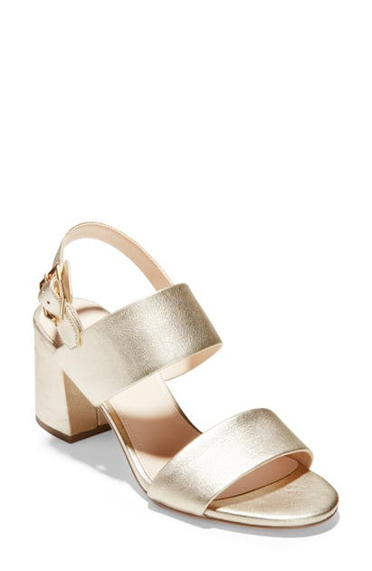 84f354a662 Cole Haan Avani City Sandal In Soft Gold Metallic Leather | ModeSens