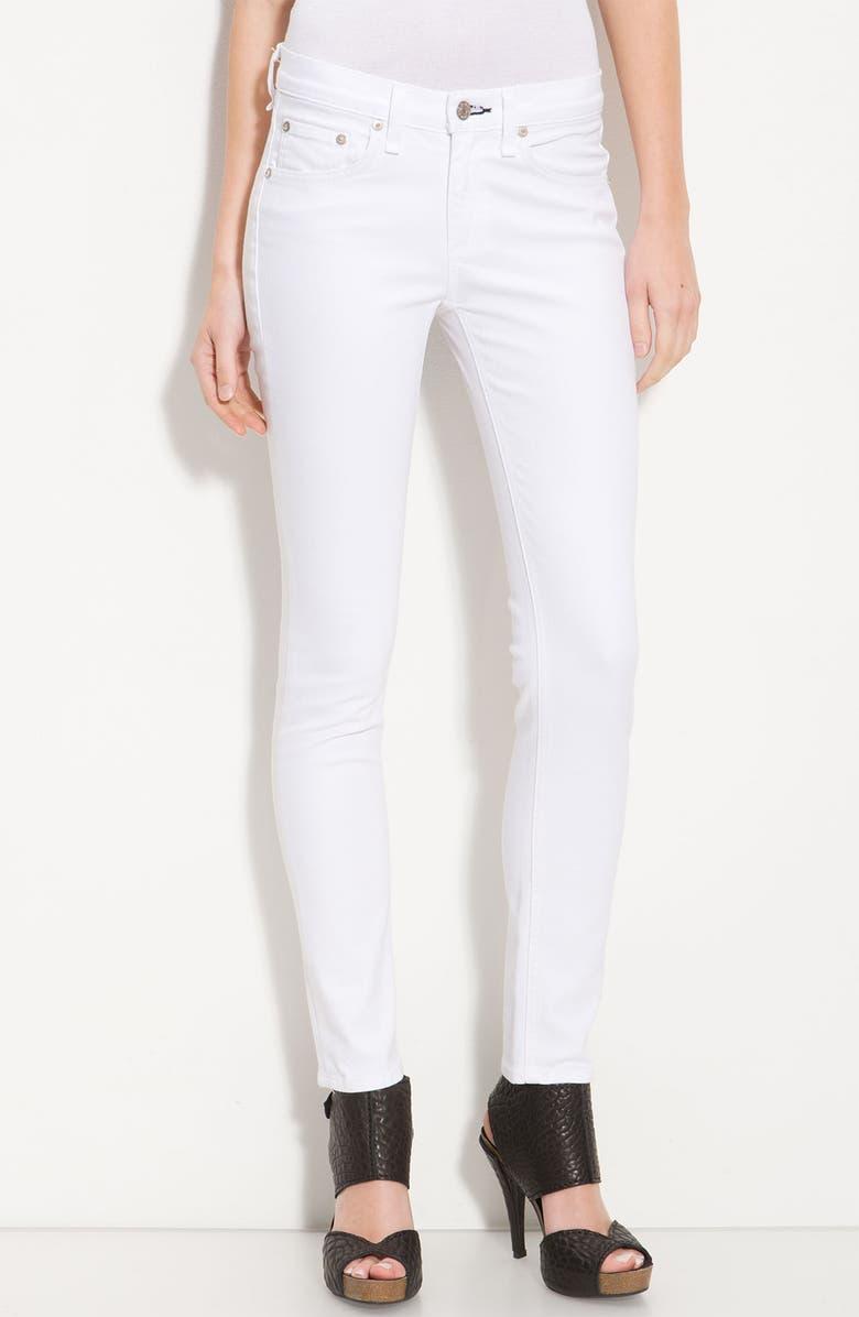 RAG & BONE/JEAN Skinny Stretch Jeans, Main, color, 100