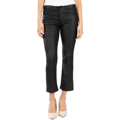 Kut From The Kloth Kelsey Crop Kick Flare Jeans, Black