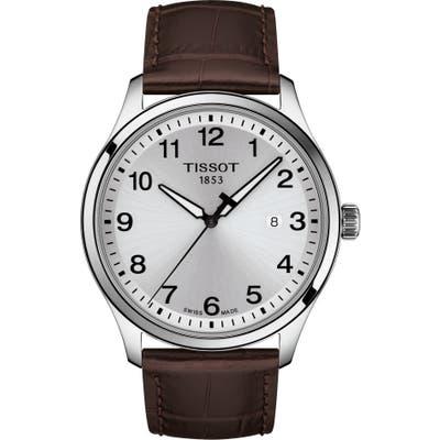 Tissot Gent Xl Classic Leather Strap Watch, 42Mm