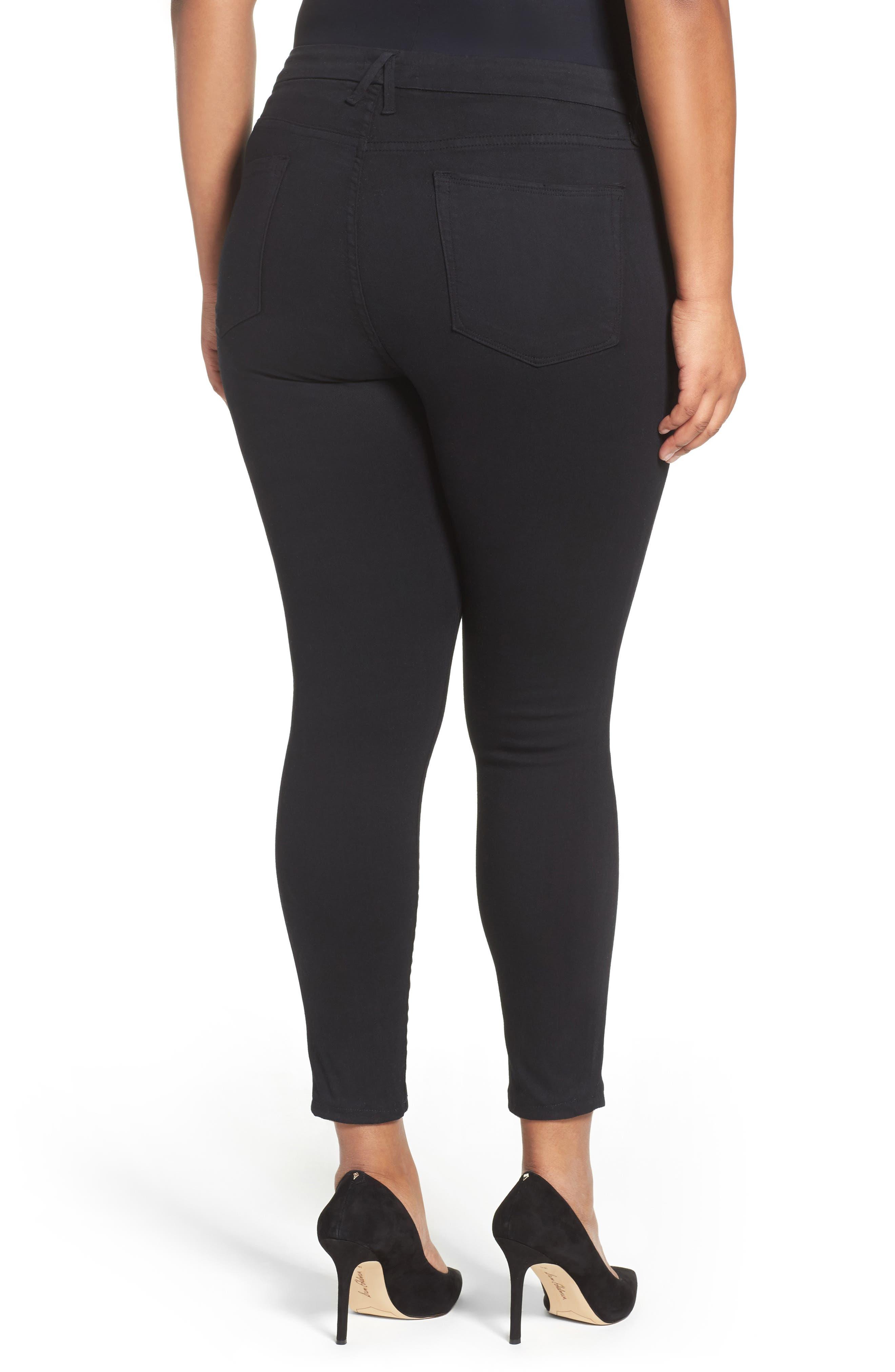 ,                             Good Legs High Rise Skinny Jeans,                             Alternate thumbnail 5, color,                             BLACK 001