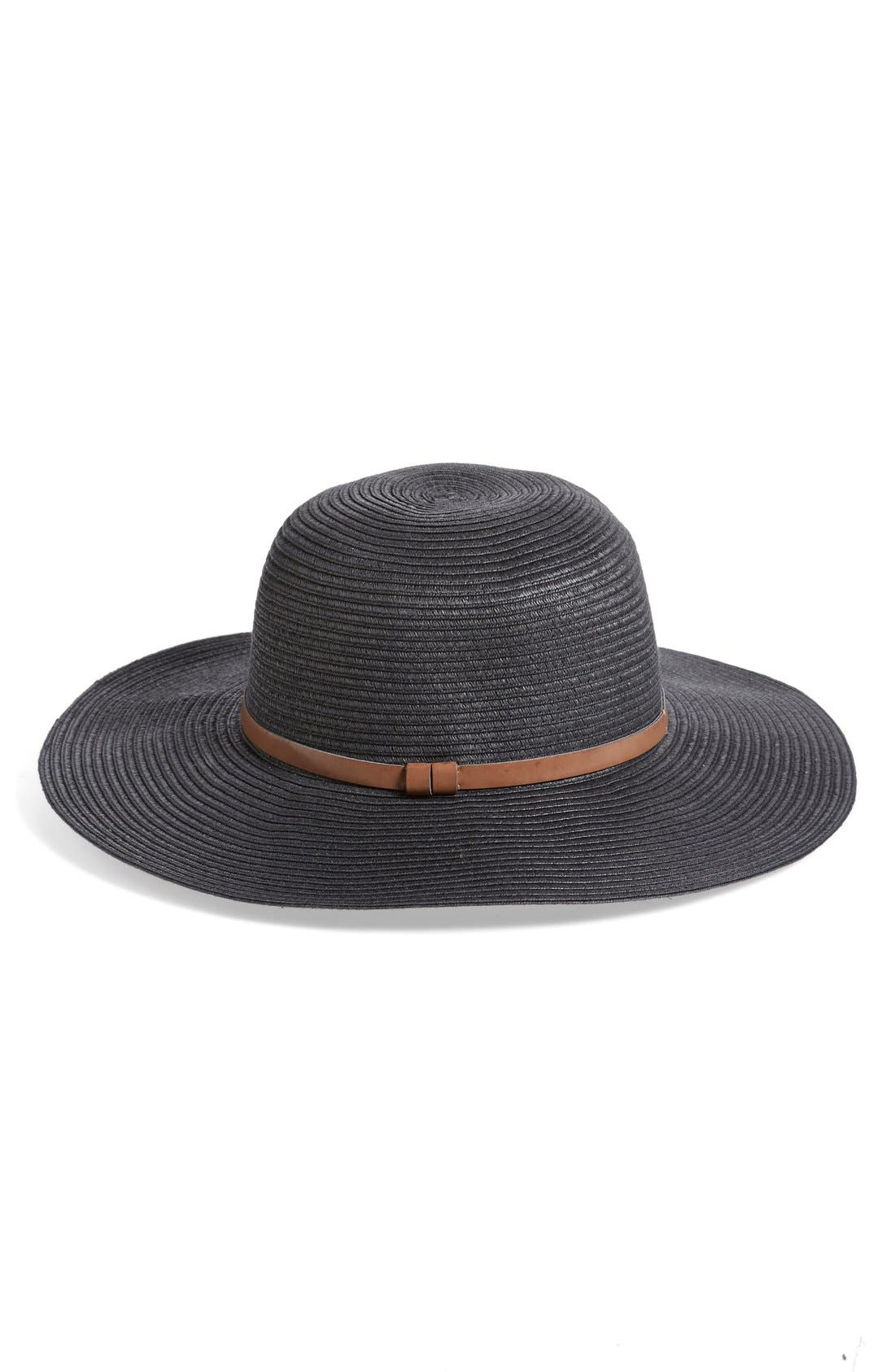 ,                             Straw Floppy Hat,                             Main thumbnail 1, color,                             001