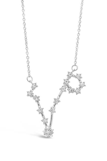 Image of Sterling Forever Delicate Constellation CZ Pisces Zodiac Pendant Necklace