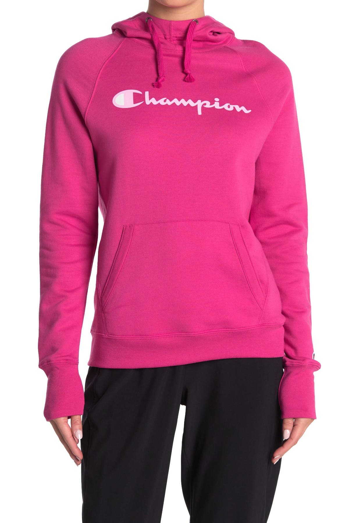 Image of Champion Powerblend Graphic Print Hoodie