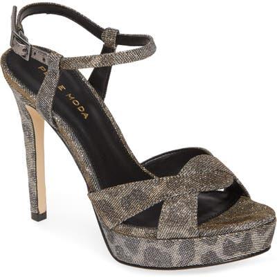 Pelle Moda Platform Stiletto Sandal- Brown