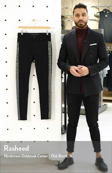 Sarah Metallic Side Stripe Skinny Jeans, sales video thumbnail