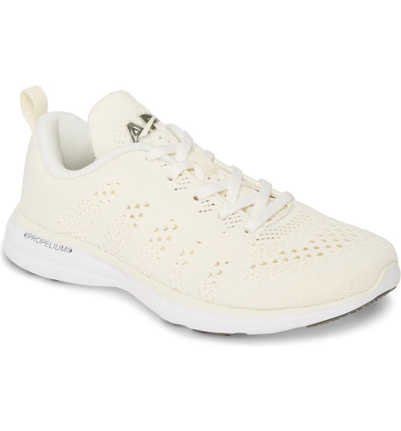 APL TechLoom Pro Knit Running Shoe, Main, color, PRISTINE/ FATIGUE/ WHITE