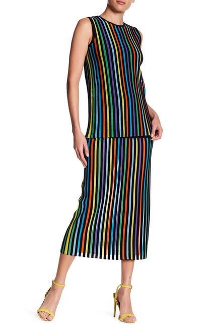 Image of Diane von Furstenberg Striped Two Tier Dress
