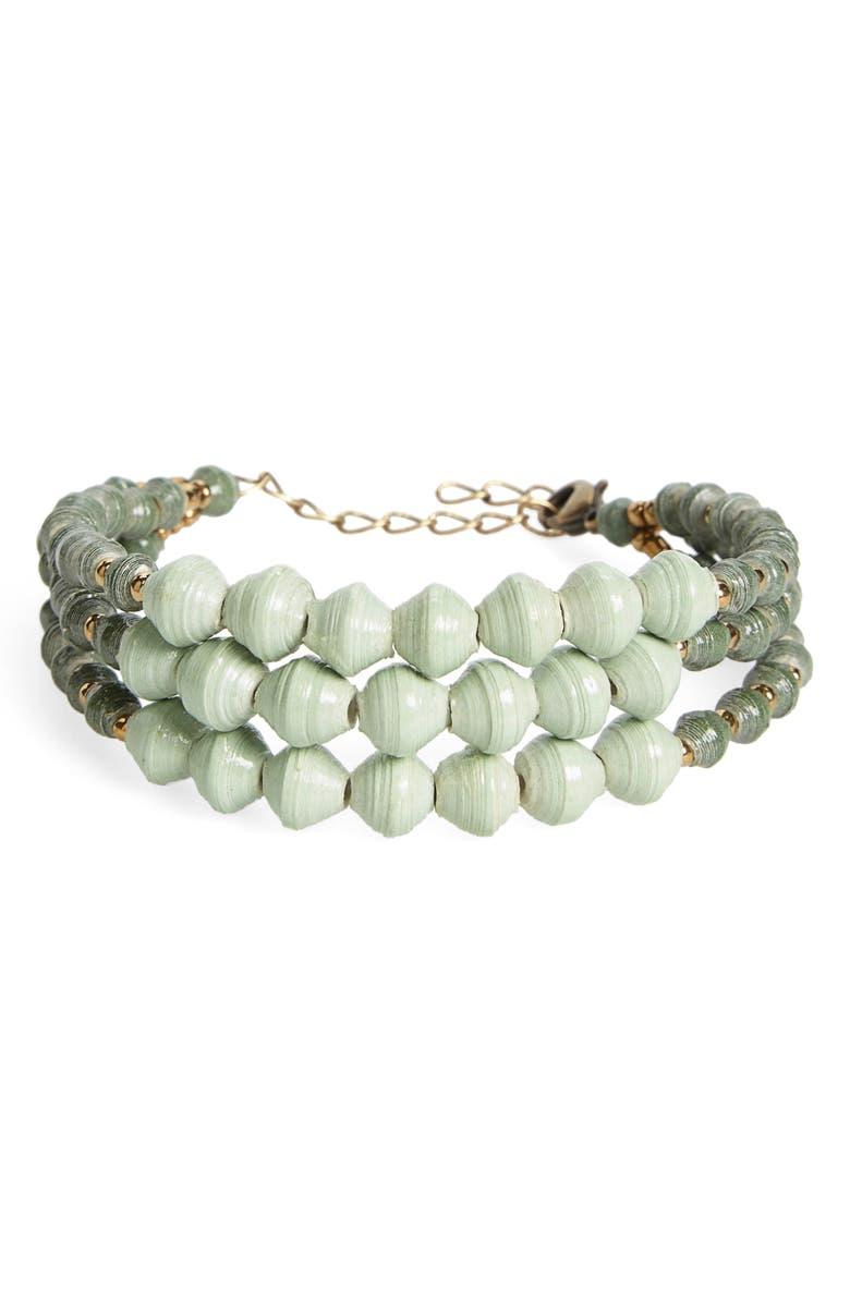31 BITS Shadow Ridge Paper Bead Bracelet, Main, color, 300