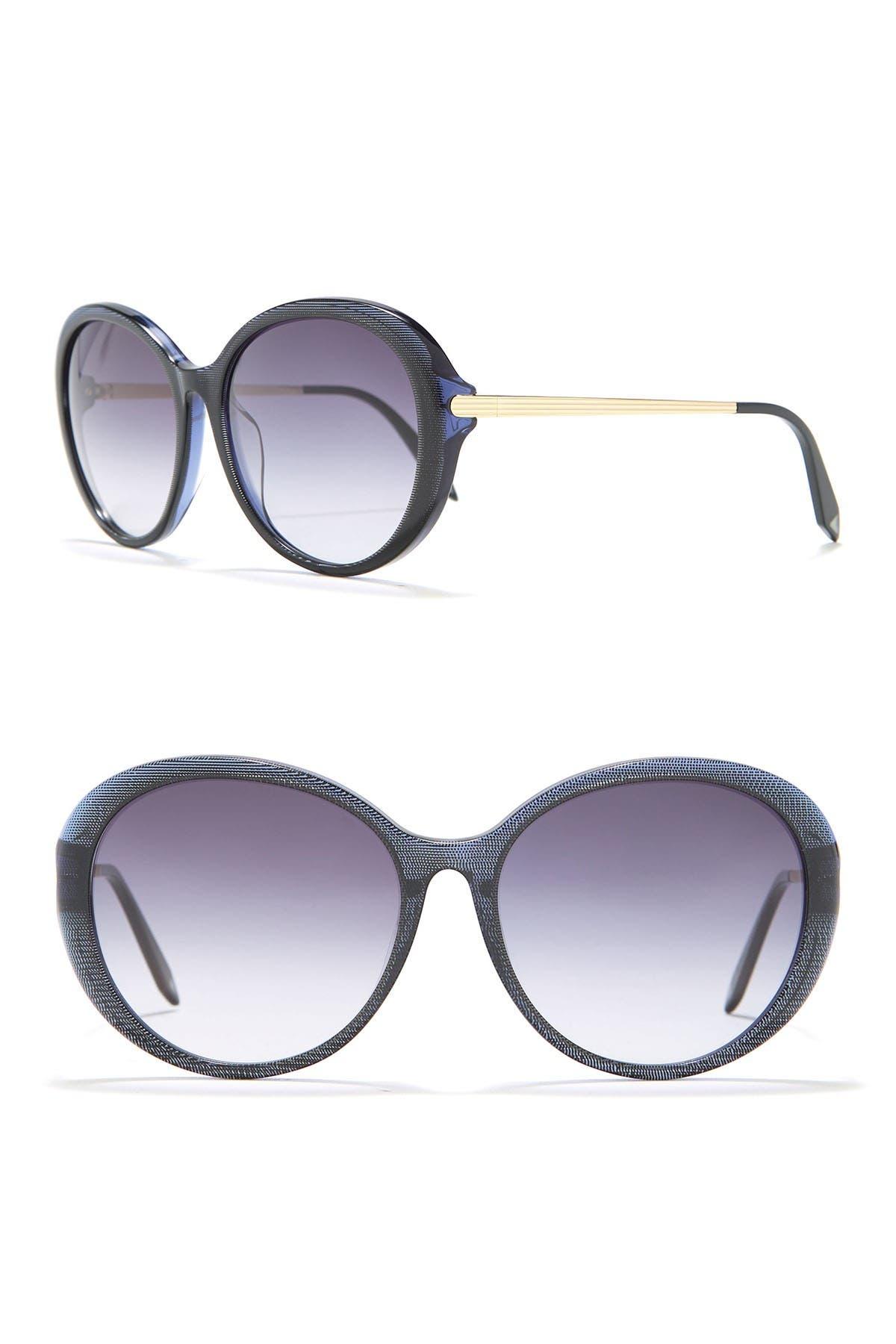 Image of Victoria Beckham 55mm Fine Oval Acetate Sunglasses