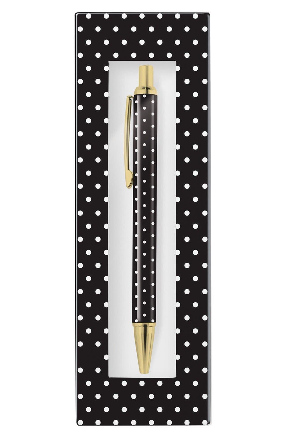 ,                             'Pas - Black & White Dot' Retractable Metal Ballpoint Pen,                             Alternate thumbnail 5, color,                             100