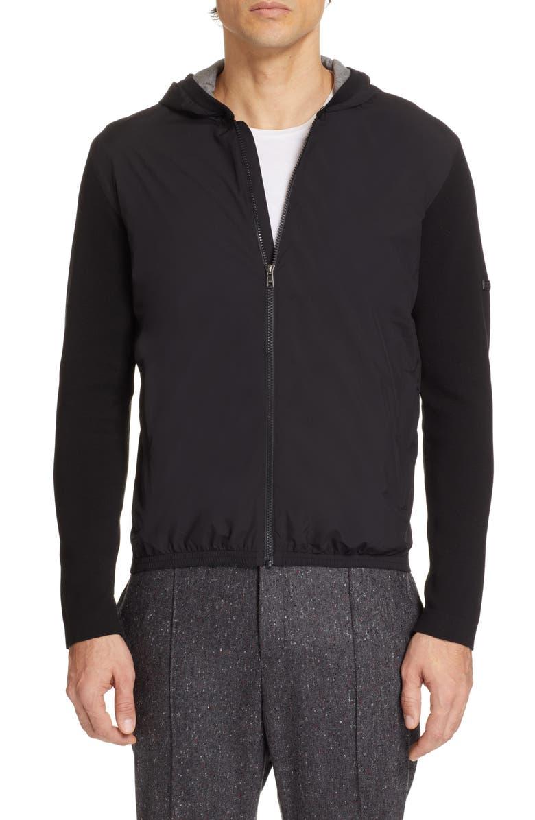 Z ZEGNA Hooded Jacket, Main, color, 001