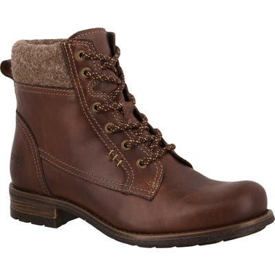 Taos Cutie Lace-Up Bootie, Brown