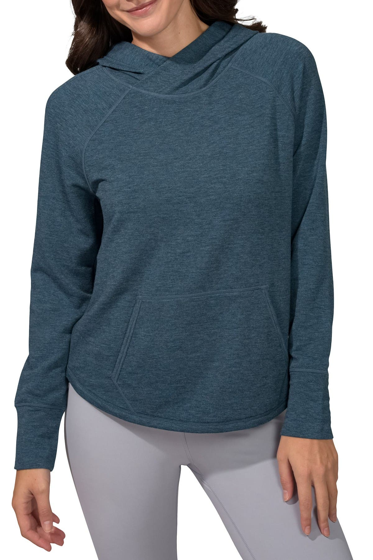 Image of 90 Degree By Reflex Brushed Hoodie with Front Pocket