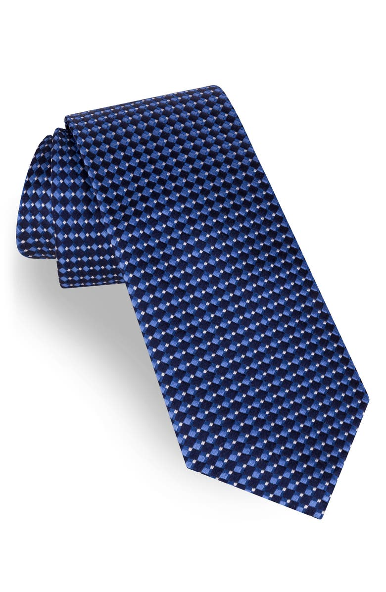 TED BAKER LONDON Geometric Tie, Main, color, NAVY