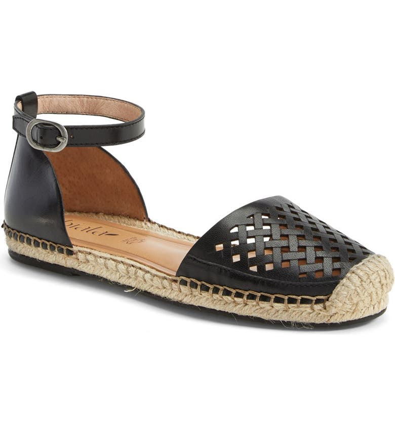 BIALA 'Alice' Ankle Strap Leather Espadrille, Main, color, 001