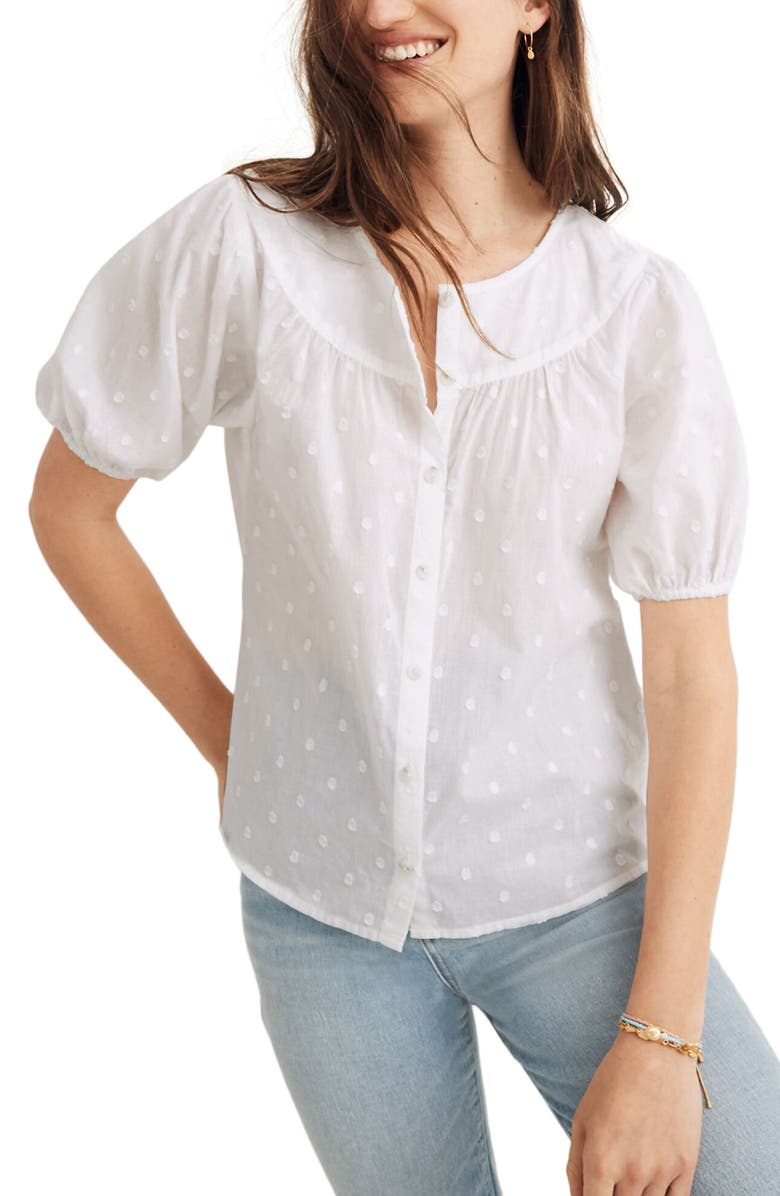 MADEWELL Prose Shirt, Main, color, EYELET WHITE