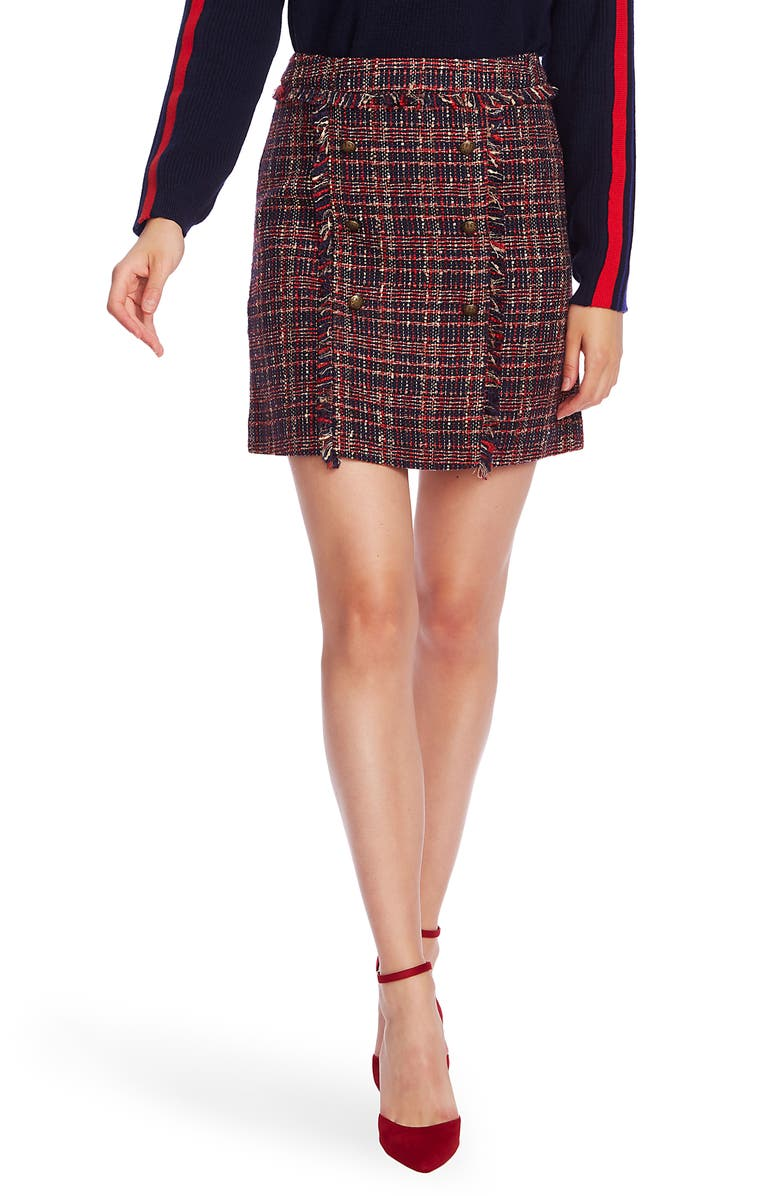 COURT & ROWE Preppy Tweed Skirt, Main, color, 400