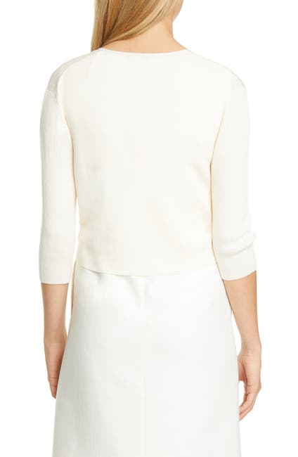 Image of Lafayette 148 New York Open Front Crop Cardigan