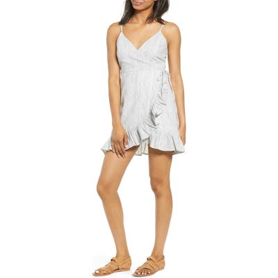 Lira Clothing Clementine Ruffle Trim Wrap Minidress, Black