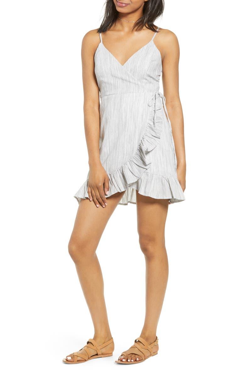Lira Clothing Clementine Ruffle Trim Wrap Minidress