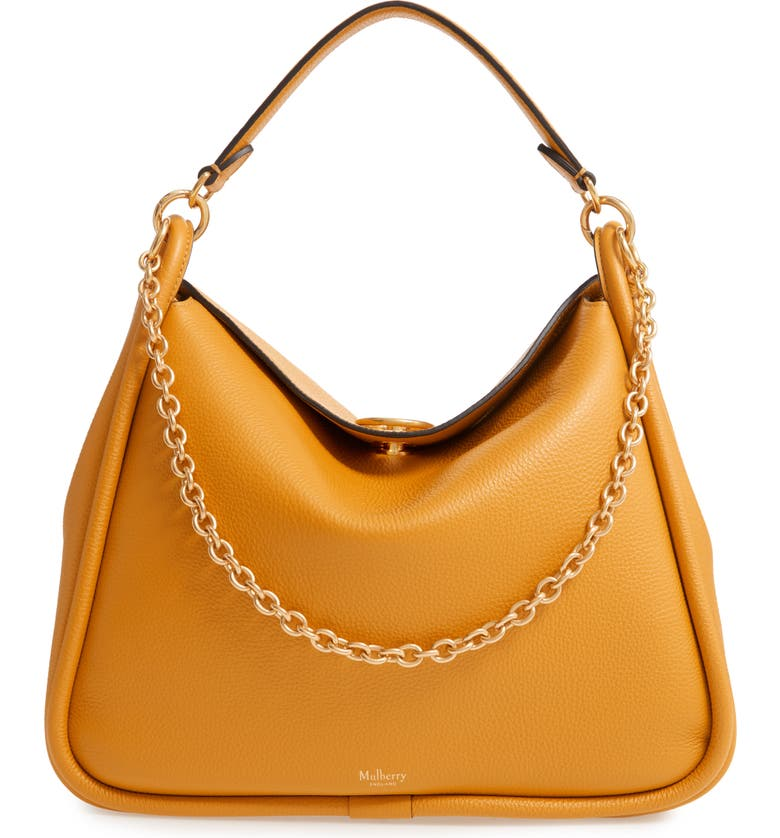 MULBERRY Leighton Leather Hobo, Main, color, 700