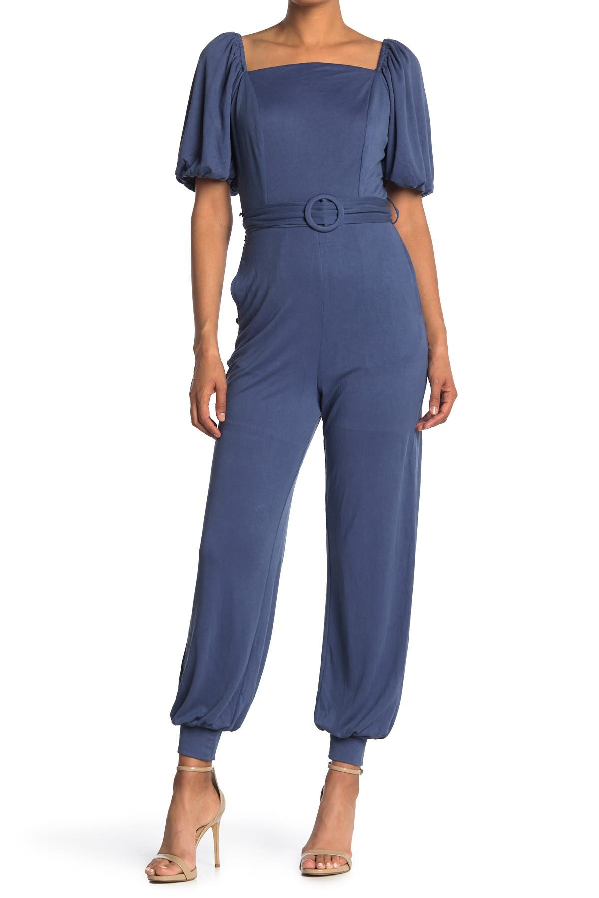 ONE ONE SIX   Puff Sleeve Belted Jogger Jumpsuit   Nordstrom Rack