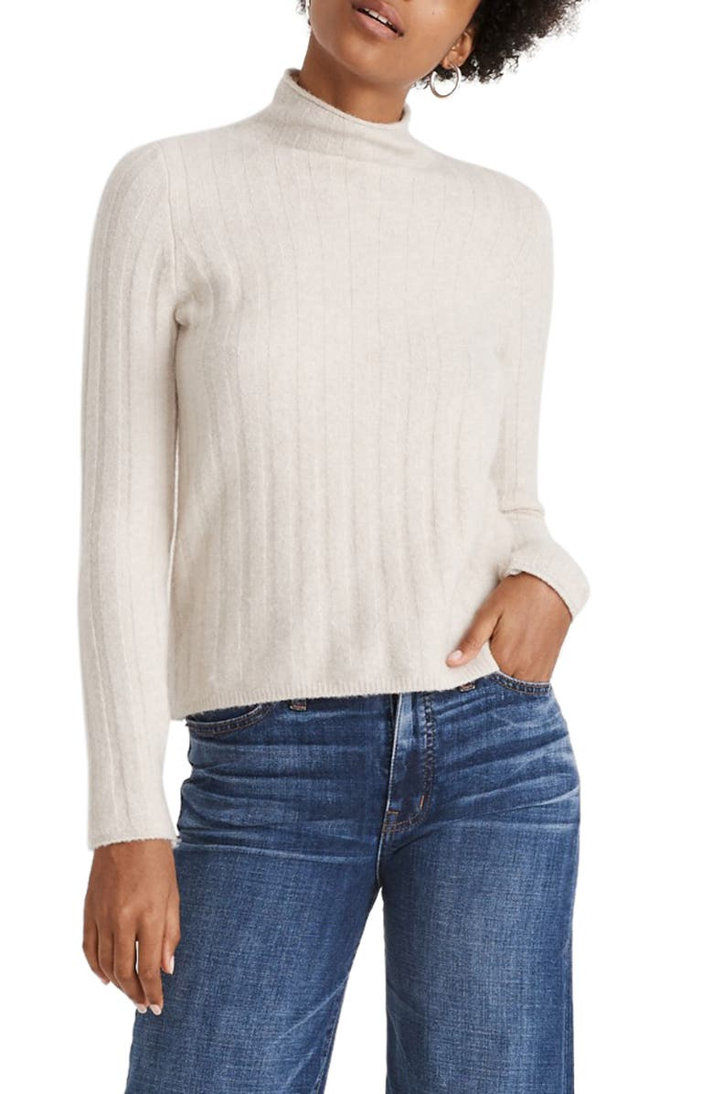 MADEWELL Evercrest Turtleneck Sweater, Main, color, NATURAL