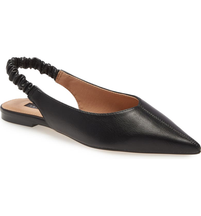 TOPSHOP Apple Slingback Mule, Main, color, BLACK