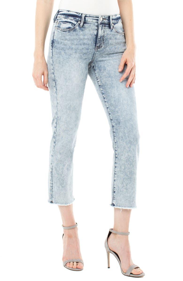 LIVERPOOL High Waist Raw Hem Crop Jeans, Main, color, ORLANDO