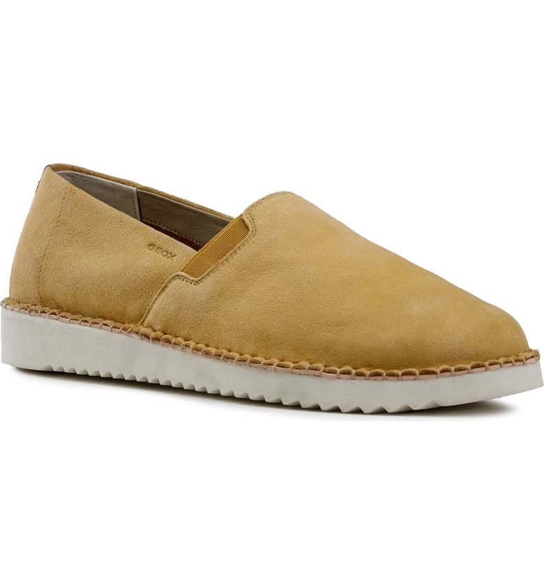 GEOX Dayan 2 Slip-On Sneaker, Main, color, CURRY LEATHER
