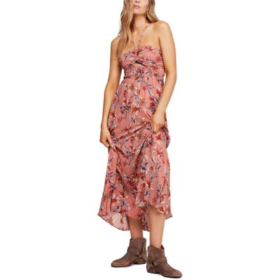 Free People One Step Ahead Maxi Dress, Pink