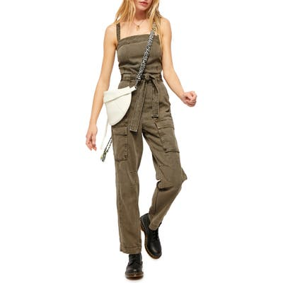 Free People Go West Utility Jumpsuit, Green