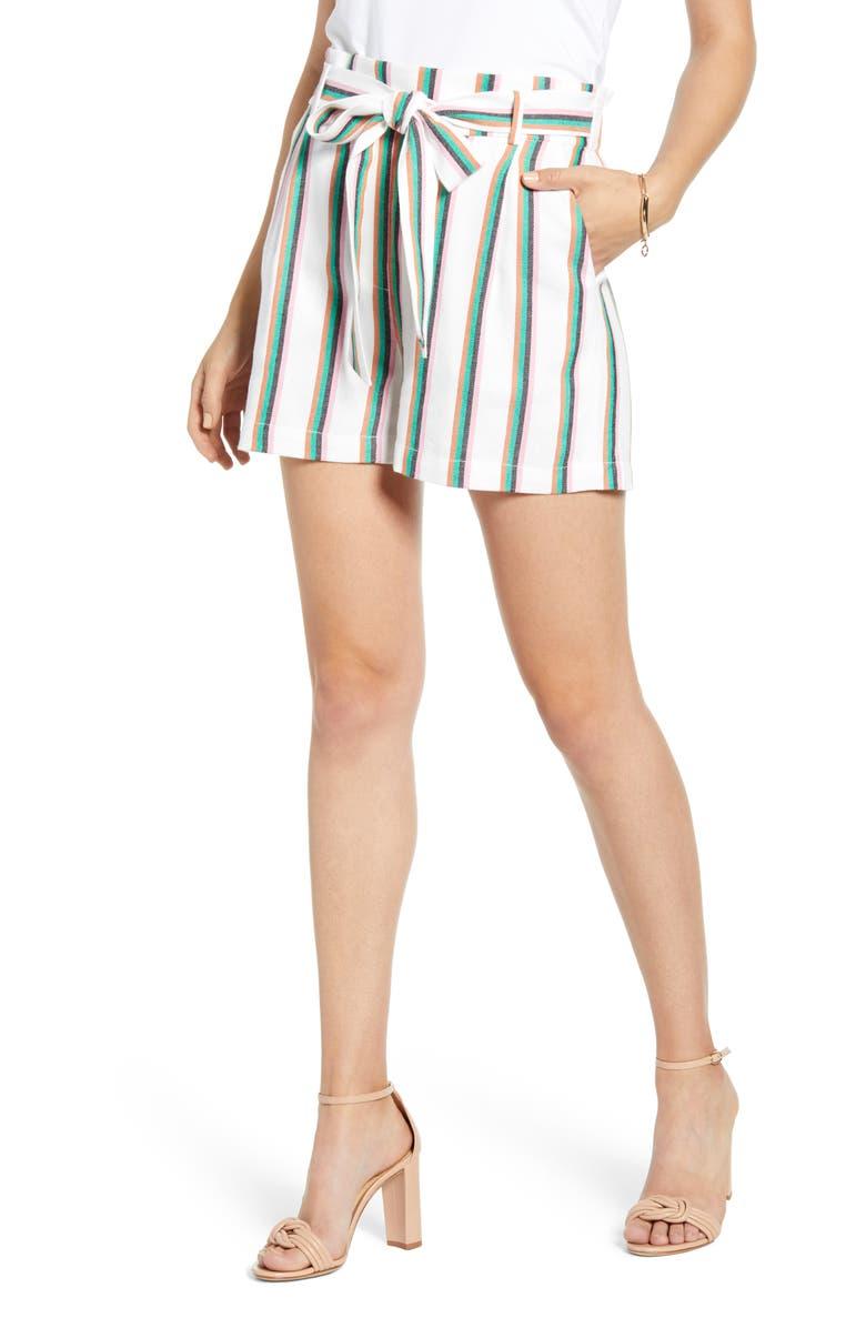 Tie Paperbag Waist Stripe Shorts by Halogen®