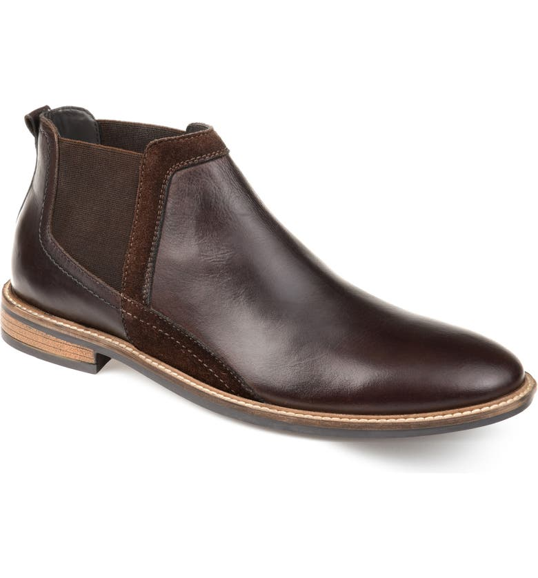 THOMAS & VINE Beckham Chelsea Boot, Main, color, BROWN LEATHER